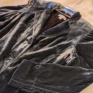Coldwater Creek Velvet Poets Jacket